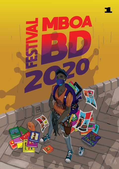 Affiche voté par le public pour la 11e édition du festival de bande dessiné du Cameroun