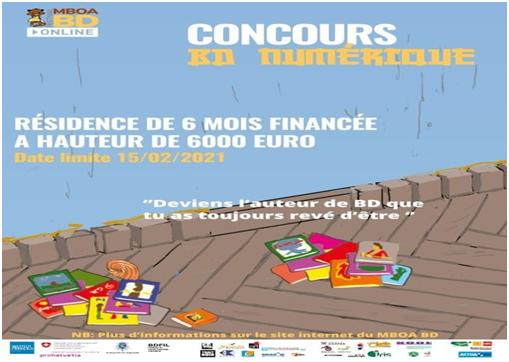 Affiche concours bd numérique Mboa BD festival